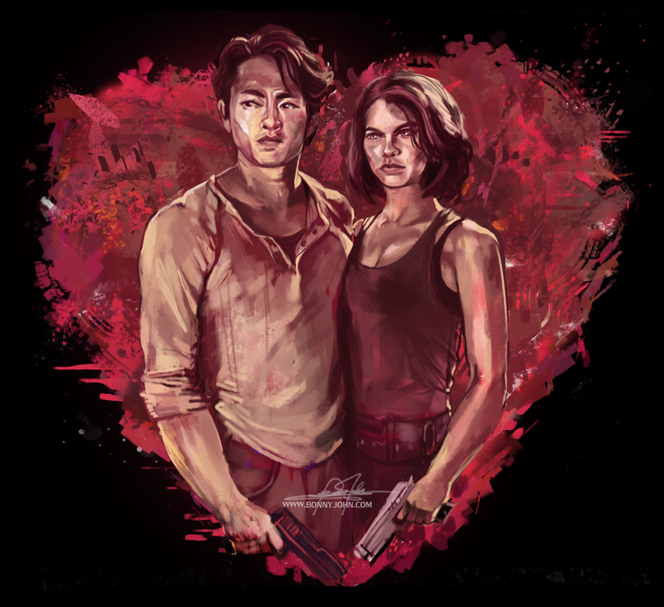 Glenn and Maggie - Happy Valentine's Day - TWD by BonnyJohn