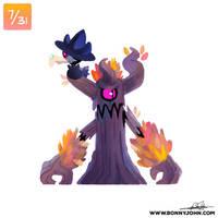 10/07 - Murkrow and Trevenant! by BonnyJohn