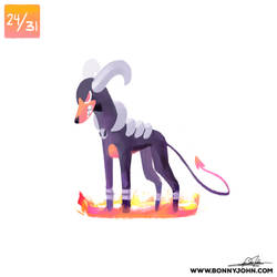 10/24 - Houndoom! by BonnyJohn