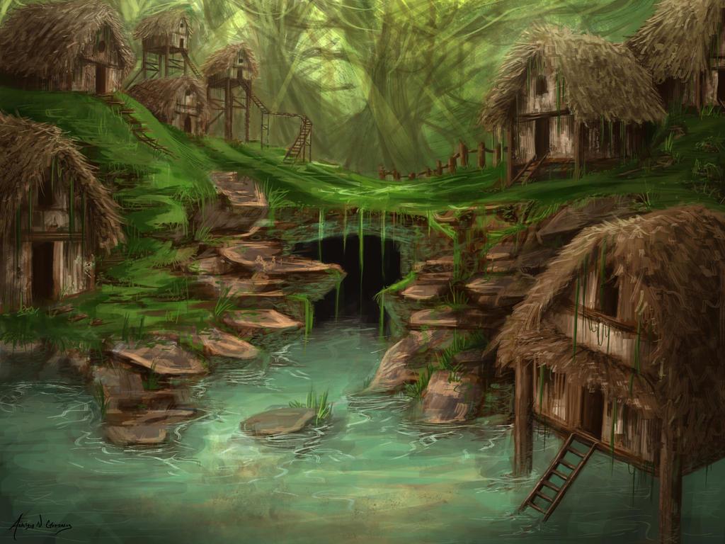 Hut Village by AshesDust