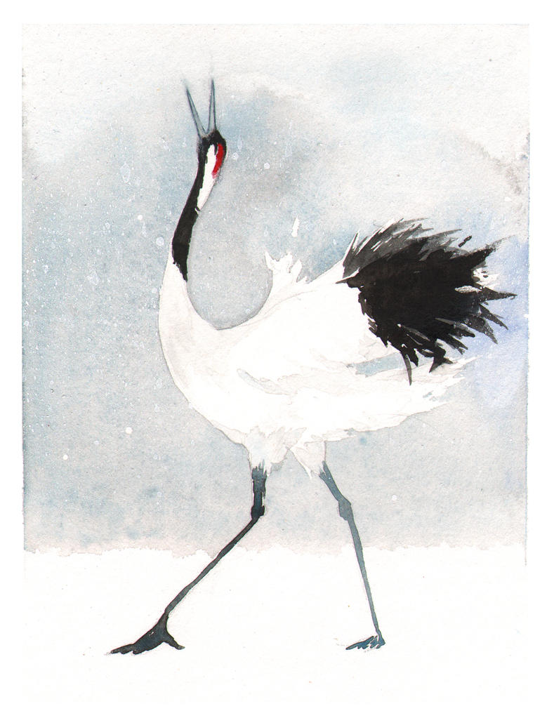 Japanese Crane by littlerac on DeviantArt - photo#21