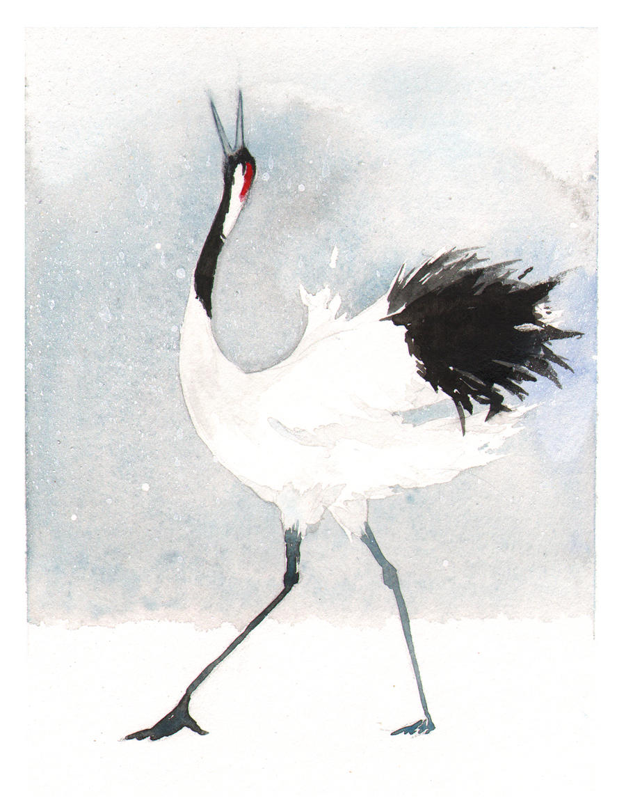 Japanese Crane by littlerac on DeviantArt - photo#4