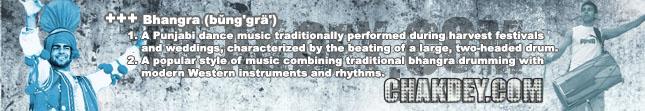 Definition of bhangra