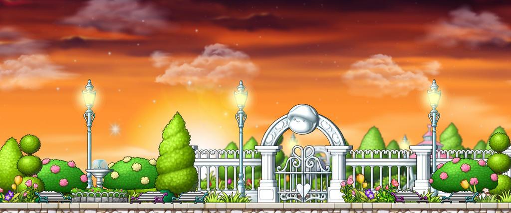 Evening Park By Kokamii