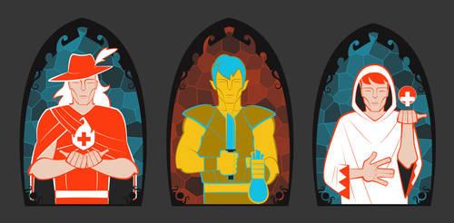 Final Fantasy Class Symbols by SLBertsch