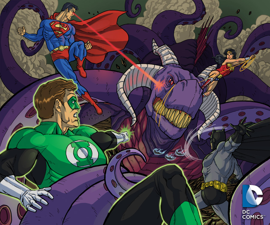 Justice League Battle by SLBertsch