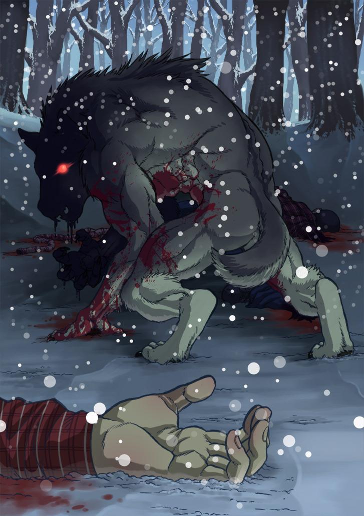 Werewolf in winter by SLBertsch
