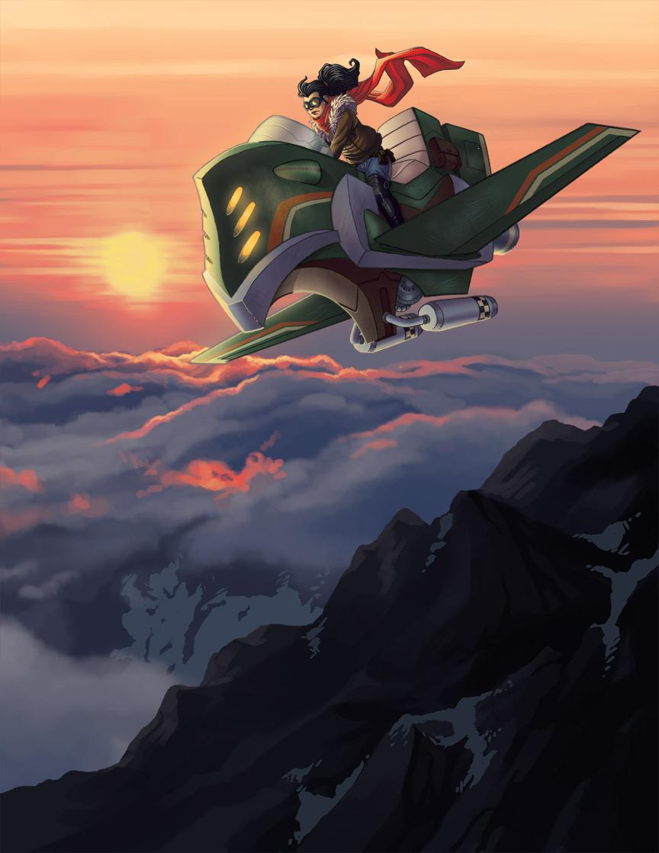 sunset rider by SLBertsch