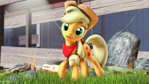 Applejack Sweet's Smile by Bonfirepng