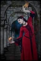 Dark Sorceress 007: Flower And Flame by Kamrusepas