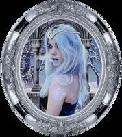 Princess Ice Gray Frame by Kamrusepas