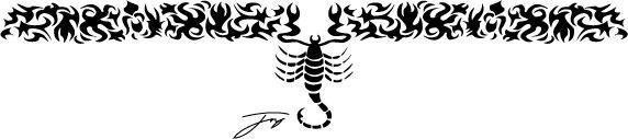 Tribal scorpion armband tattoo