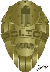 Futuristic 'Sector Cop' badge
