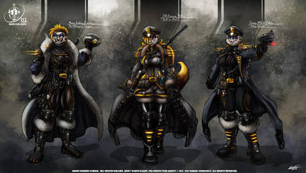 NSA CONCEPT ART 3 WARRIORS by VLADSPARTA