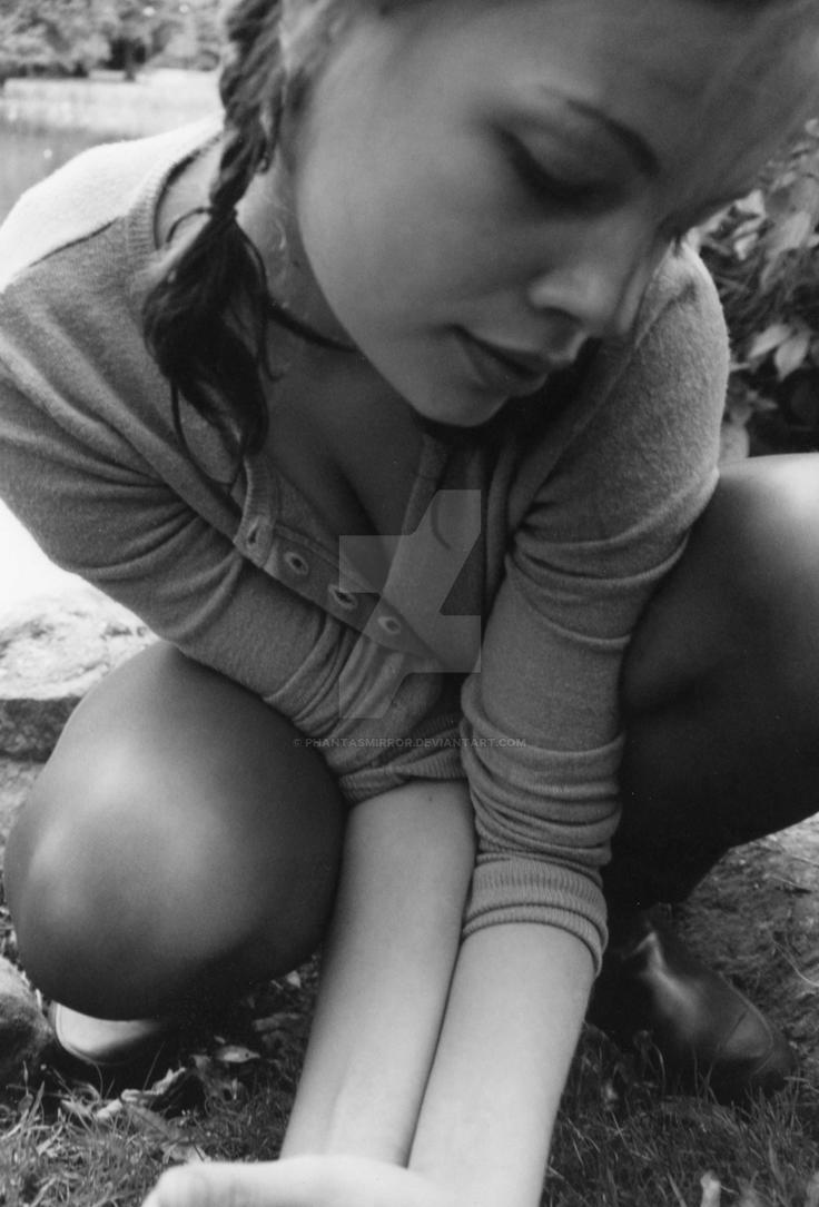 self conscious girl