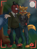 Night In the Woods - Forest Party by doodlebags