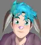 CrankGameplays: picture redraw - cute Bunny Ethan by doodlebags