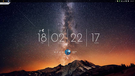 Desktop Screenshot #2 - Stargazing [Rainmeter]