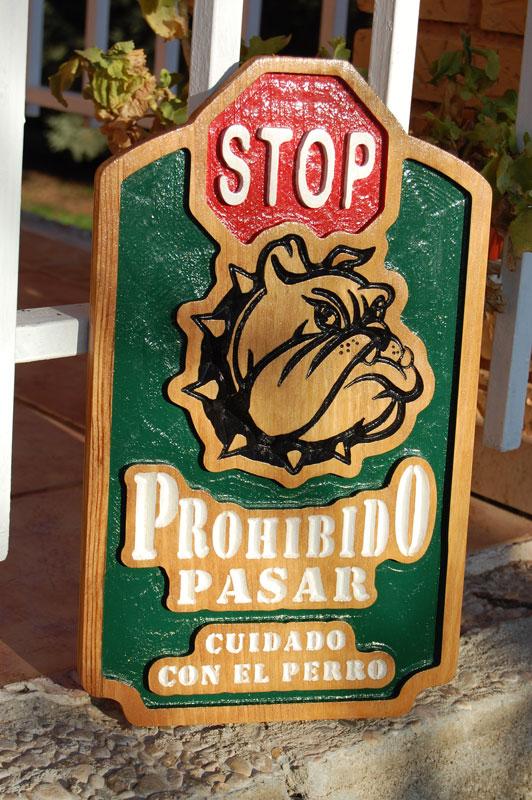 letrero Stop no pasar by doowarts