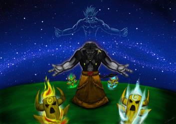 WoW - Tauren shaman and spiritual guide by OmegaClarens