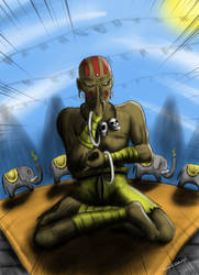 SF Tribute - Dhalsim by OmegaClarens