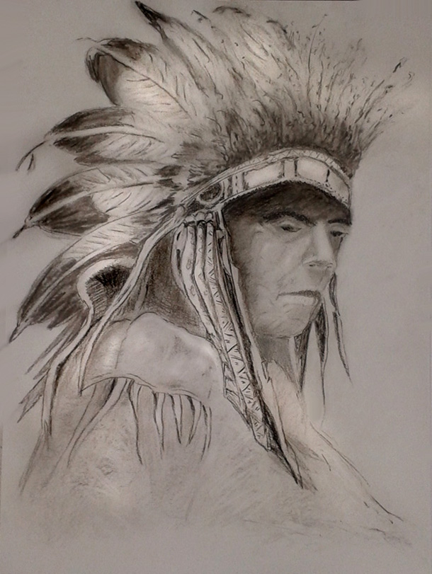 Thoughtful chief by cosima66