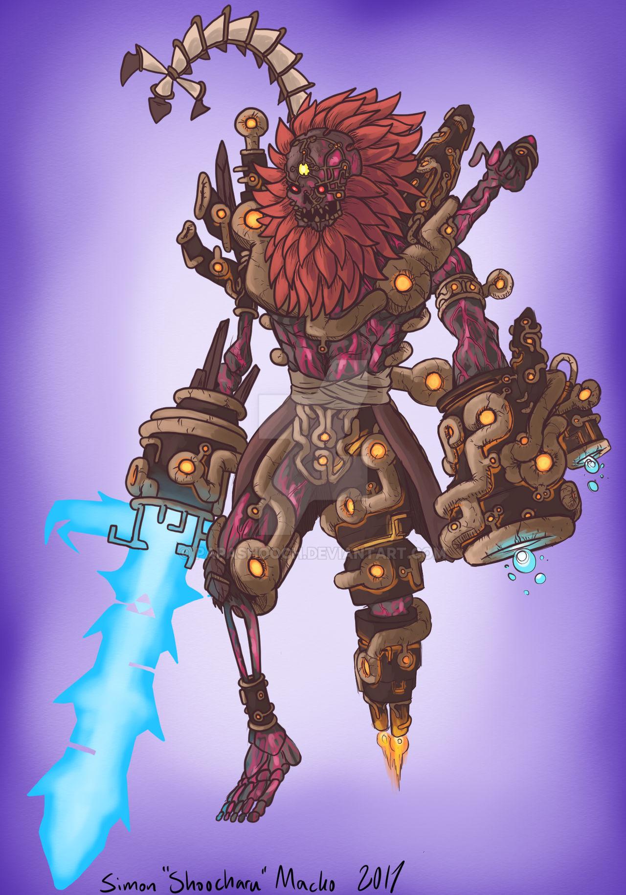 Calamity Ganon Humanoid Form By Papashooch On Deviantart