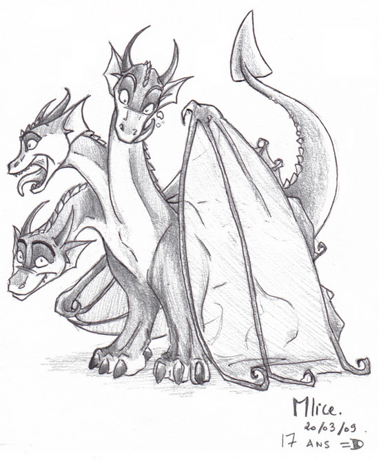 Three Headed Dragon By X Mlice On Deviantart