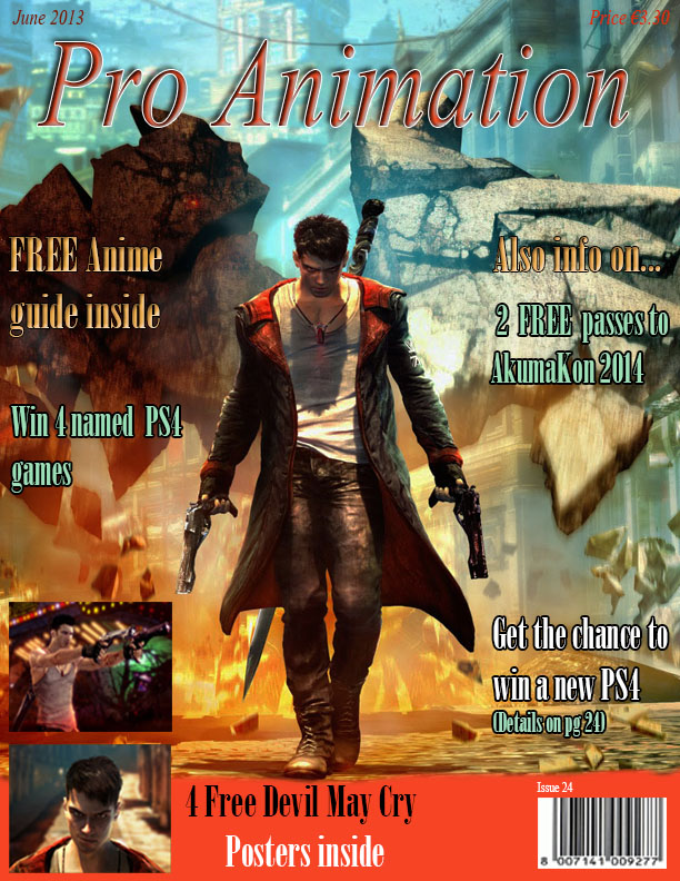 Pro Animation DMC Magazine Cover by LilGayEmo