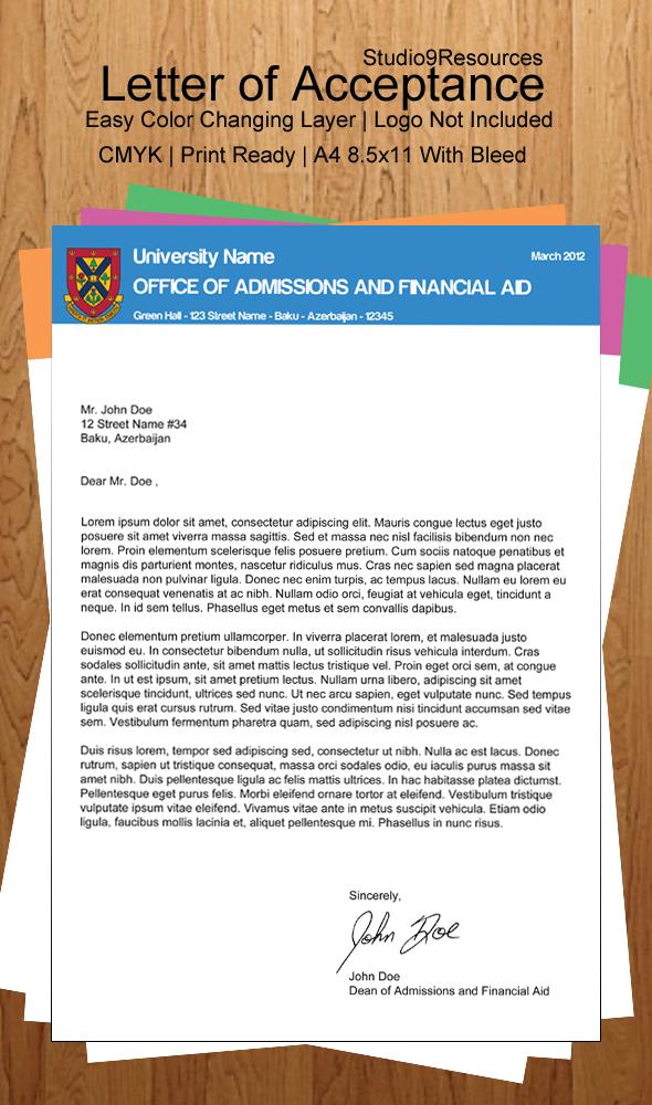 University Letter Of Acceptance By KRONTM On DeviantArt