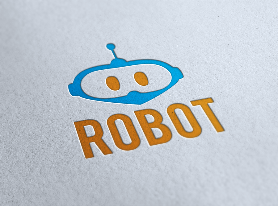 robot logo by krontm on deviantart