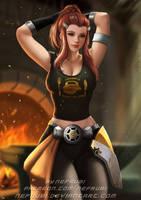 Brigitte | Overwatch by Nefrubi
