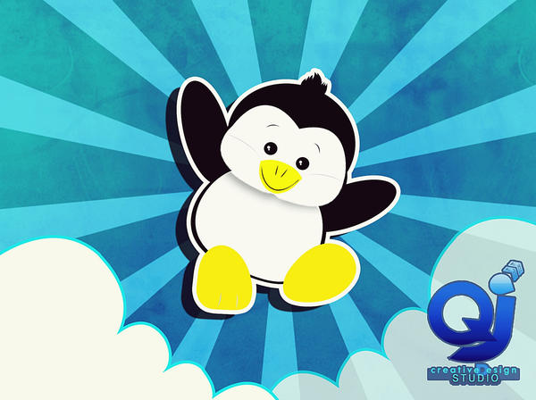 Pingu2 flying from the sky~ by qarr91