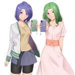 Aoi and Midori