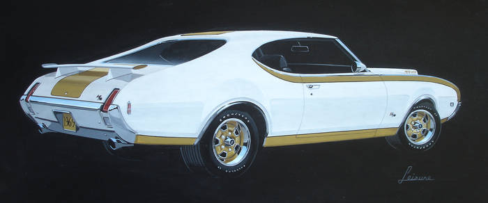69 Olds 442 H-O 455 rear