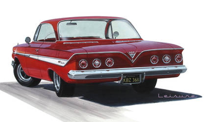 '61 Chevy Impala SS Hardtop rear view