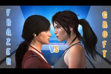 Chloe Frazer vs Lara Croft by SKIPPER92