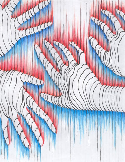 Contour Hand Drawing by Lnescuh on DeviantArt