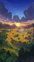 Commission landscape sunrise