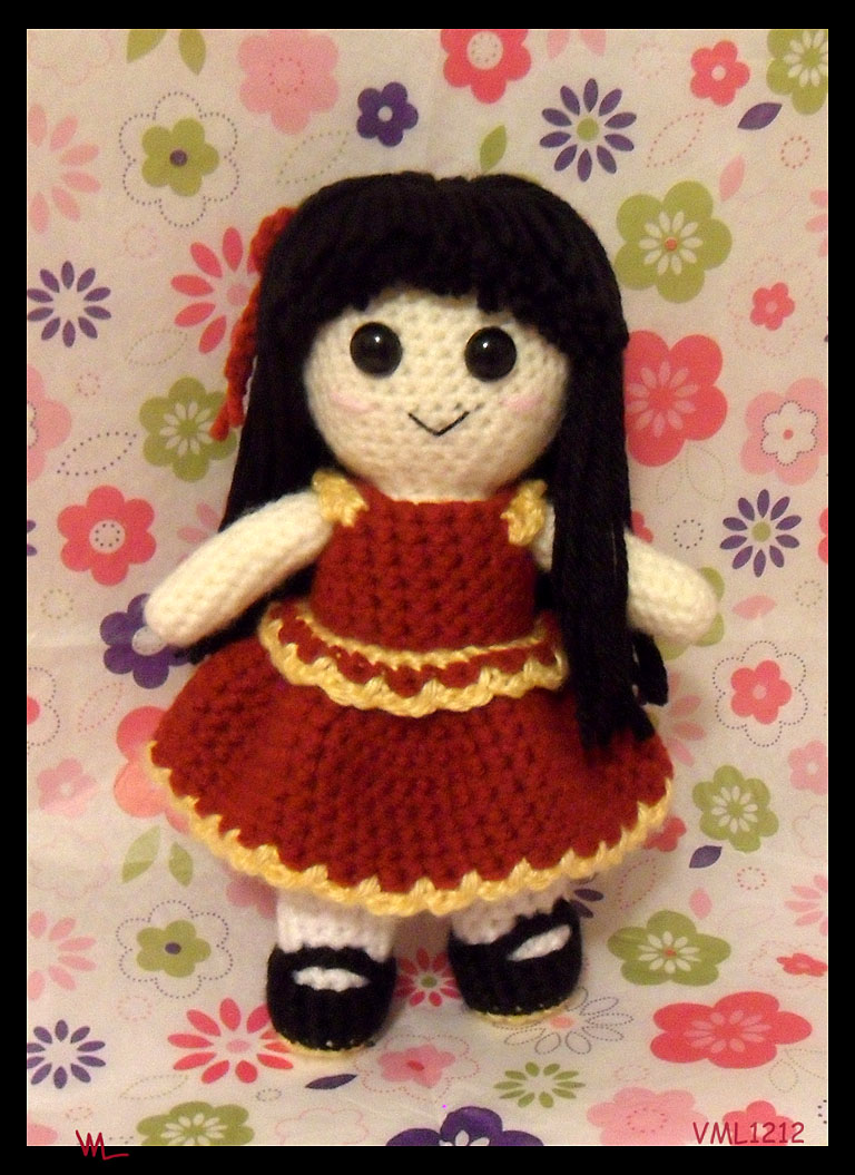 49ers amigurumi girl by VML1212