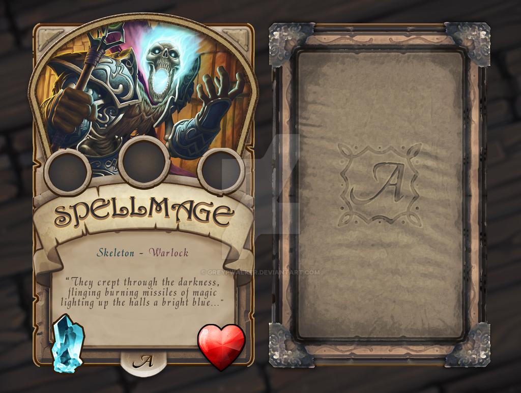Medieval Fantasy Trading Card Template by GreyPWalker