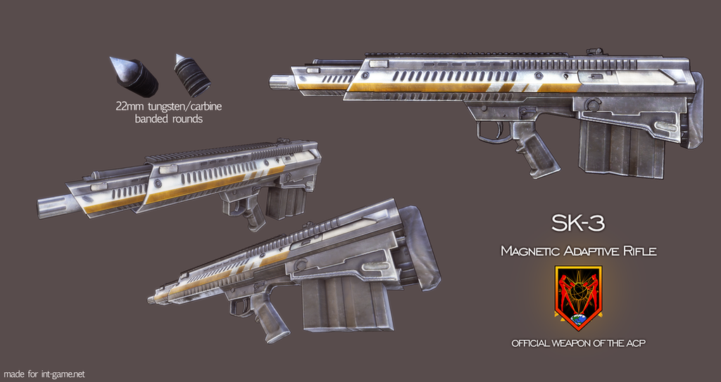 ACP SK-3 Magnetic Adaptive Rifle (Scifi Rifle) by GreyPWalker
