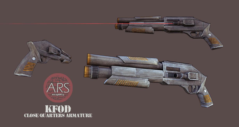 ARS KFOD CQB (Scifi Weapon) by GreyPWalker