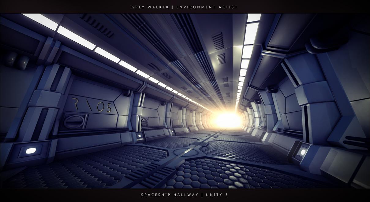 Spaceship Hallway - Unity 5 by GreyPWalker