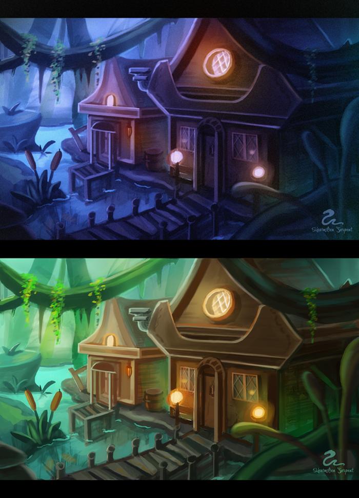 Swamp Village by garda-de-nosferatu