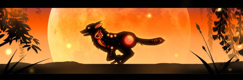 Lunar Eclipse Wolf