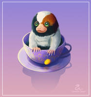 A Baby Niffler in a Cup by Maximilien-Serpent