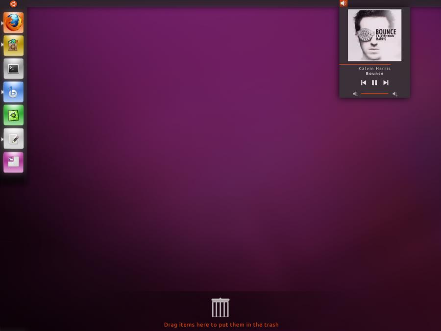 Ubuntu Unity Desktop Concept by soggybizkitlulz