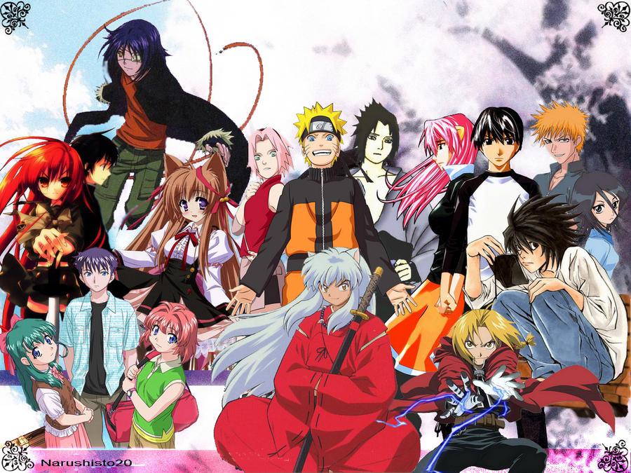 Anime Crossover Wallpaper By Narushisto On Deviantart