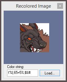 Premade Snarling Wolf Furcadia Portrait by OhBigBad